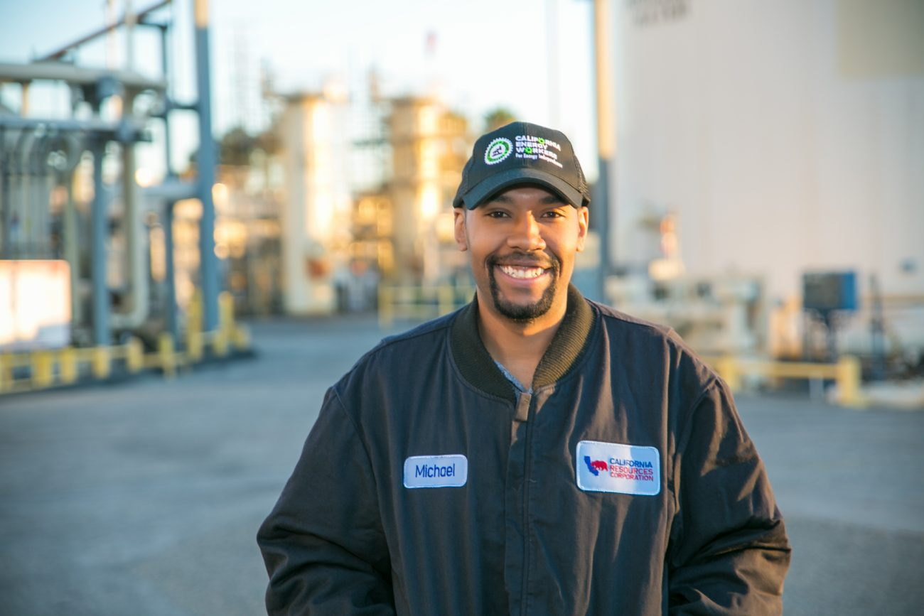CRC employee Michael Williams smiles for a photo at the Long Beach facility.