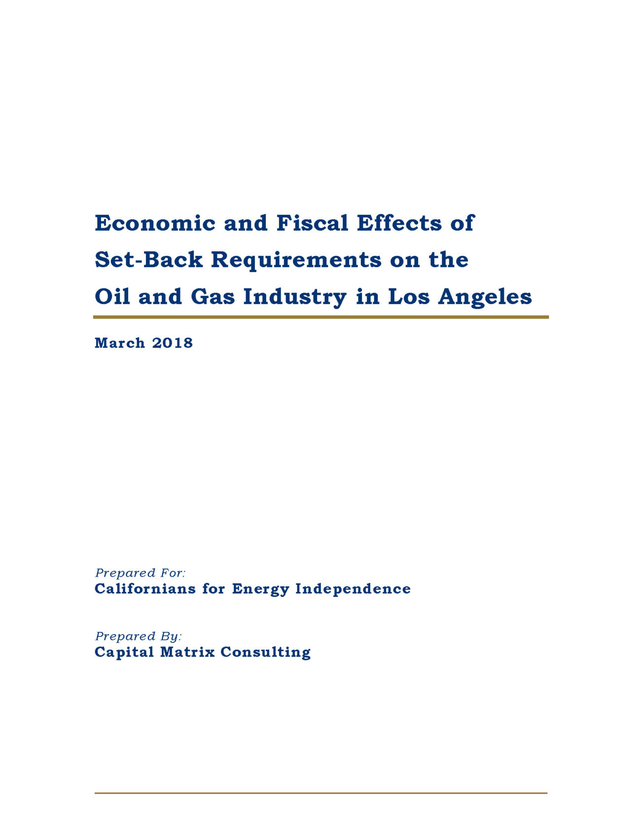 Los Angeles Fiscal Study