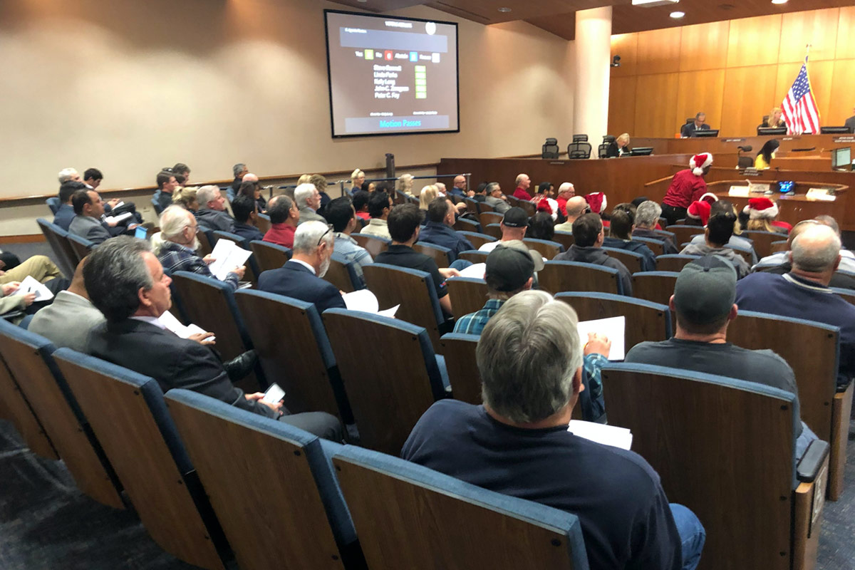 Filled seats for the Ventura Water Study public comment.